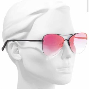 LE SPECS Fortifeyed Mirrored Aviator Sunglasses